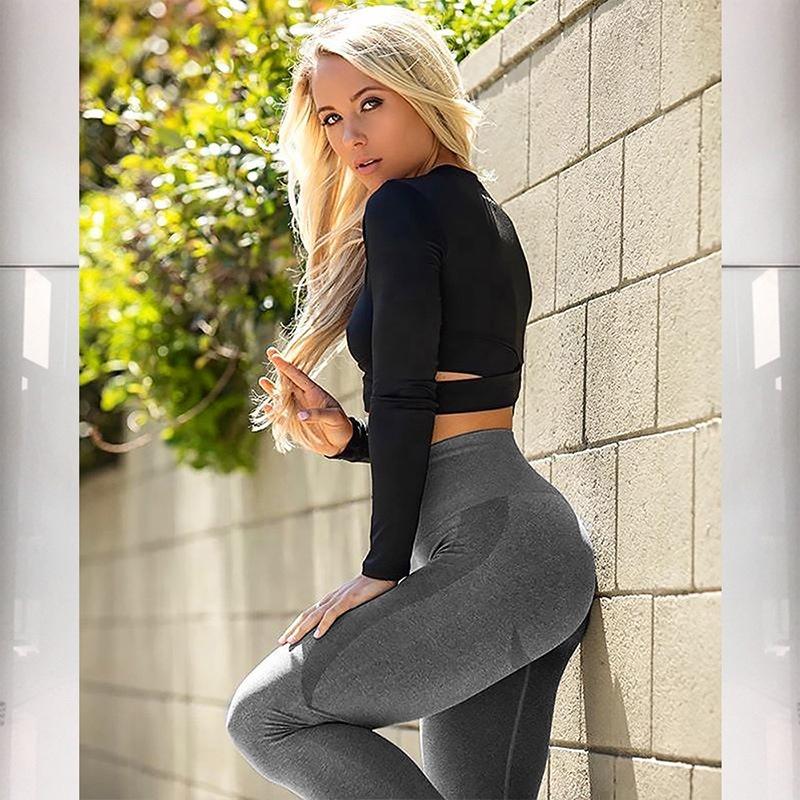 2020 Booty Lifting High Waisted Workout Yoga Leggings And Seamless Yoga Pants