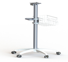 Part CNC Machining Moulding 5 Star Base Aluminum Medical Medical Monitor Trolley