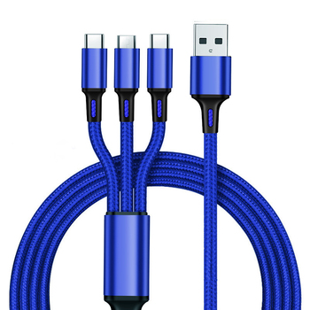 3 In 1 Multi Use Mobile Phone Tablet Usb 3A Charger Cable Line