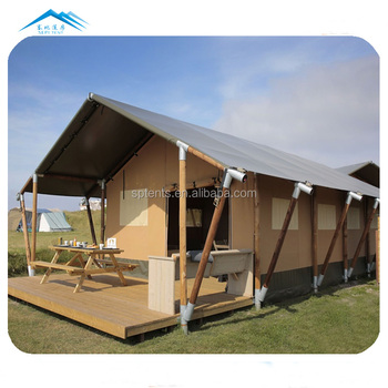 hot sell single room hard wall tent a shaped tent safari glamping tent