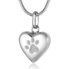 Pendant Pendants Factory Outlet Heart-Shaped Keepsake Cremation Pendant Dog/Cat Paw Prints Ashes Urn Memorial Pendants