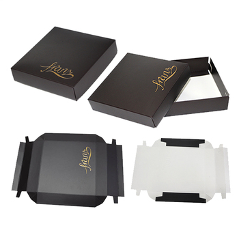 luxury Very special top and base 2 pieces with lid card box display boxes for custom logo folding card shipping box packaging