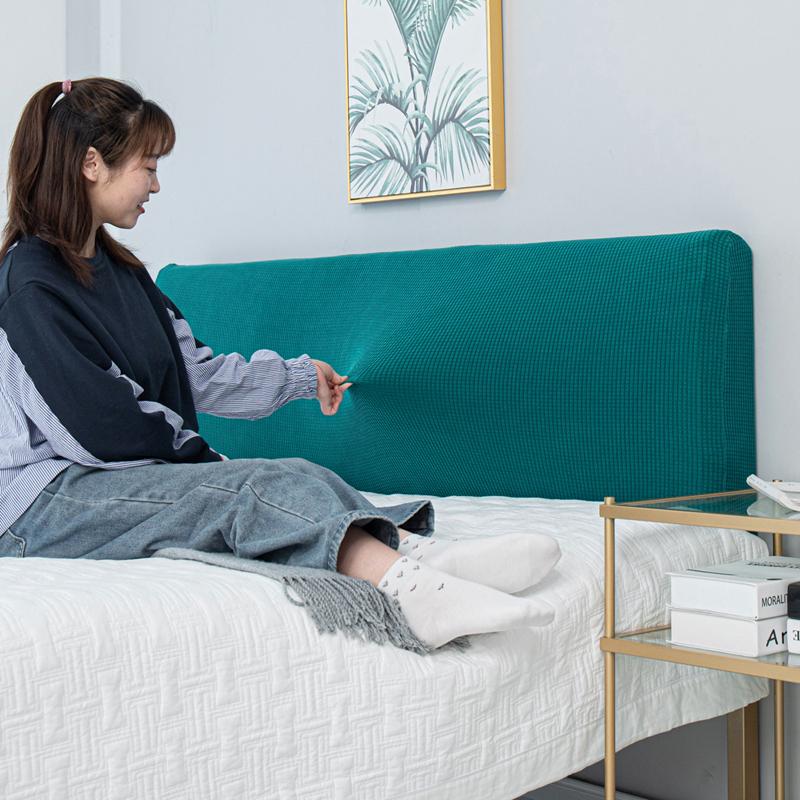 Однотонный домашний декор, мягкий чехол для кровати, защита от пыли, простой эластичный полноразмерный чехол для кровати, чехол для кровати