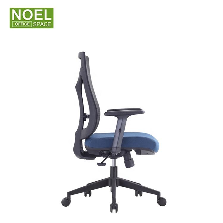 Кресла компьютерные сетчатые с подъемным вертлюгом, удобные эргономичные, современные офисные стулья со средней спинкой