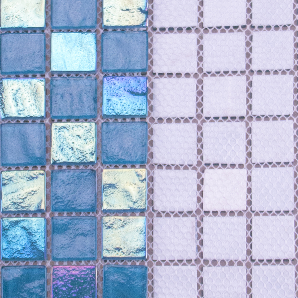 Blue crystal glass mosaic tiles cheap swimming pool tile backsplash