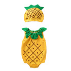 Baby Cotton Sleeveless Pineapple Printed Summer Baby Romper Bodysuit Jumpsuit Playsuit And Hat Set