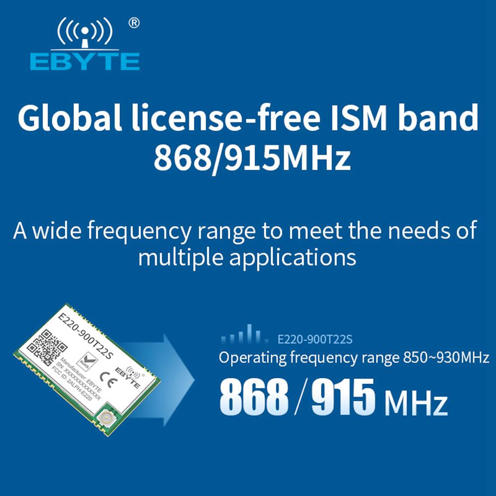 Ebyte LoRa Module LLCC68 Chip FCC CE RoHS 5km Long Range Wireless Transceiver UART 868MHz 915MHz Wireless RF Module