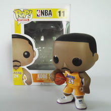 FUNKO POP баскетбольные звезды Джеймс-Коби-Стивен Карри-Кири Ирвинг Джон стена, экшн-фигура, куклы, Коллекционная модель, игрушка для любителей(Китай)