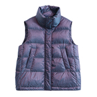 Fashion Polyester Waterproof Winter Warm plus size Shiny fabrics Women's Padded Vest