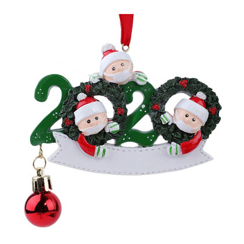 2020 Personalized Survivor Family Ornament Xmas Tree Ornaments, Quarantined at Home Family Of Personalized Tree Christmas Orname