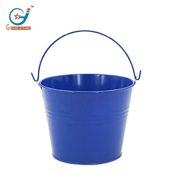 Galvanized metal flower bucket with handle wholesale decorative pots