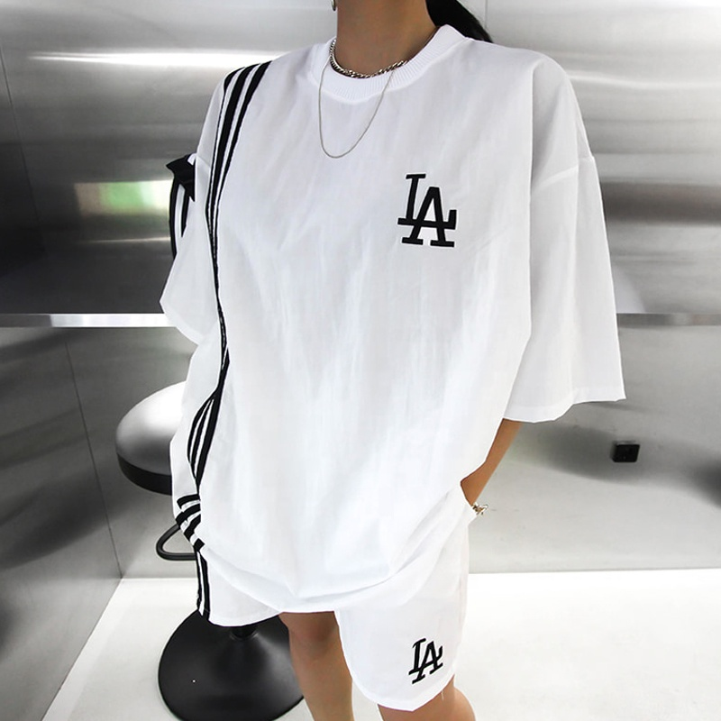 2020 high quality custom comfy cotton oversized women clothing two piece set