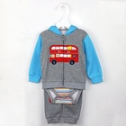 Baby Jacket Baby Clothes Baby Set Newborn Baby Clothes Children Clothing Wholesale 3-piece Baby Boys Romper Set With Hoodie Jacket