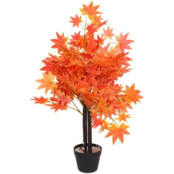 Large indoor plants artificial autumn trees cheap bonsai Japanese maple for sale