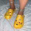shoe+headband+bag  yellow