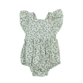 Summer Collection For Kids Floral Children Fashion Clothing Flutter Newborn Baby Romper