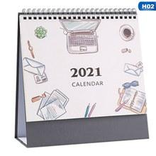2020 2021 Новый мини настольный календарь винтажный цветочный Печатный рабочий календарь новогодний план планировщик 2020,7-2021,12(Китай)