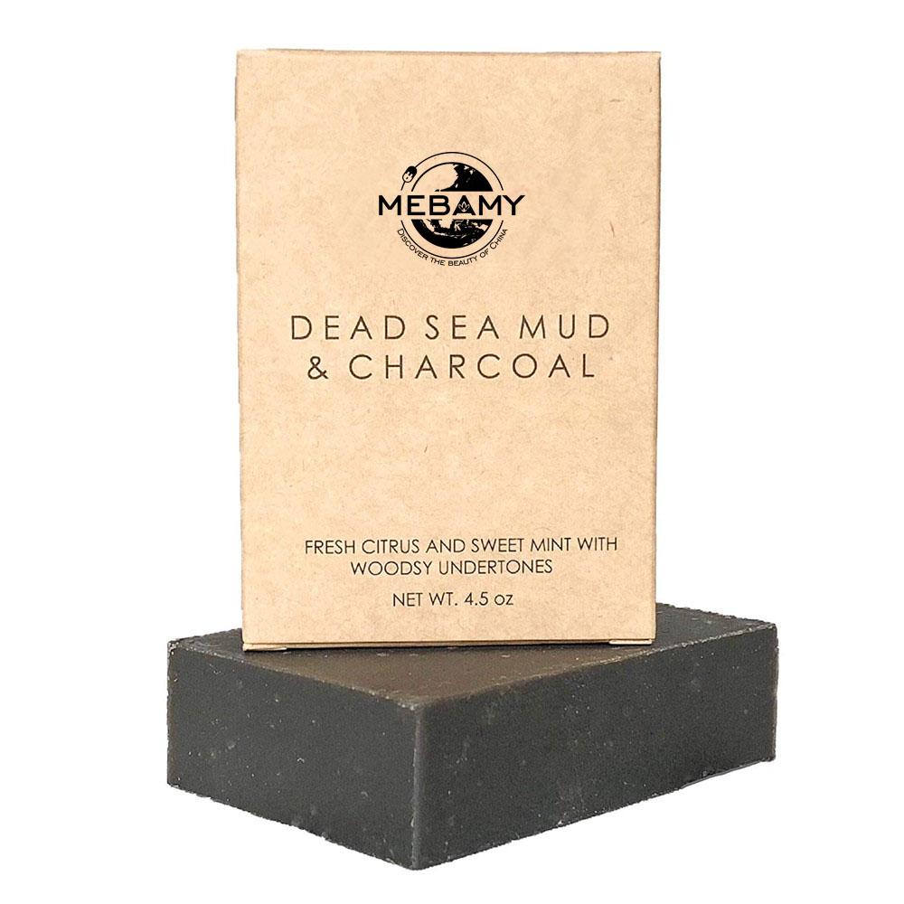 Частная этикетка натуральная грязь мертвого моря мыло ручной работы с активированным углем
