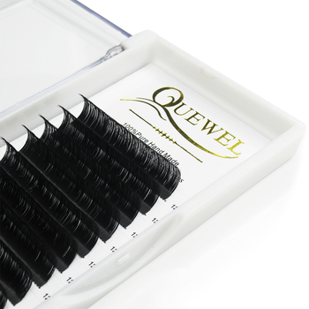 Quewel Individual Lashes 0.07 Private Label Mink Eyelash Extension Vendor Wholesale High Quality Eyelashes Individual