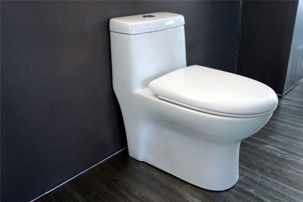 China's supply sanitary ware modern ceramic siphon one piece toilet bowl for bathroom