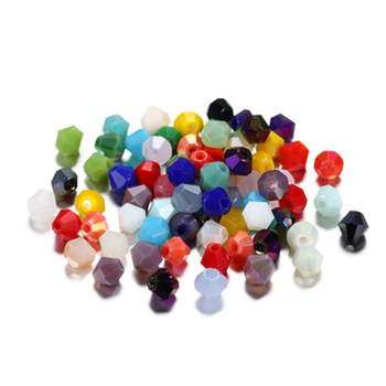 Wholesale 200 PCS Pure Color Glass Crystal 4mm Seed Beads For Bracelet Jewelry Making Accessories