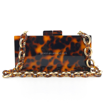 OC4125 High quality leopard acrylic bag for women party evening bags
