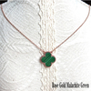 Rose Gold Malachite Green