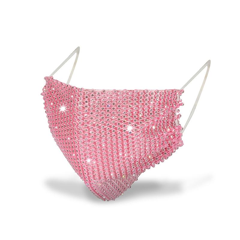 2021 Удобная блестящая маска с бриллиантами и стразами, удобная настоящая модная маска для вечеринки, новый стиль, модная индивидуальная маска для лица
