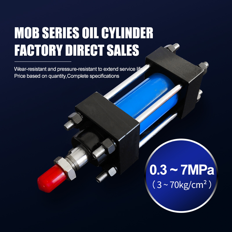 MOB series 50mm bore medium light duty tie rod construction hydraulic cylinders
