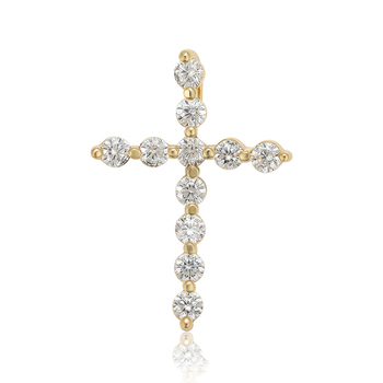 35333 Xuping fashion jewelry Christian necklace pendant, hot sale 14K gold plating environmental copper zircon cross pendant