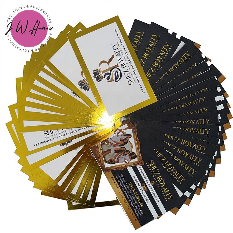 Индивидуальная профессиональная визитная карточка из золотой фольги, доступен роскошный дизайн