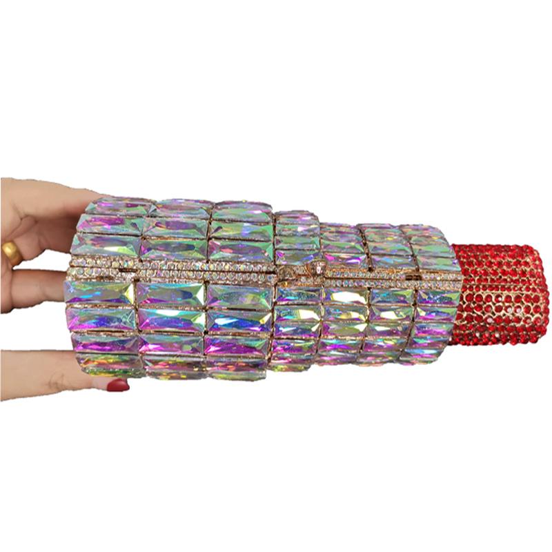 Оптовая продажа, Новое поступление, Сумка с кристаллами и стразами, вечерние сумочки, роскошные свадебные сумки-клатчи с бриллиантами, кошелек с губной помадой