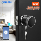 Door Lock Door Lock Fingerprint Smart Biometric Fingerprint Round Knob Wifi Tuya Door Lock By App Fingerprint Scanner