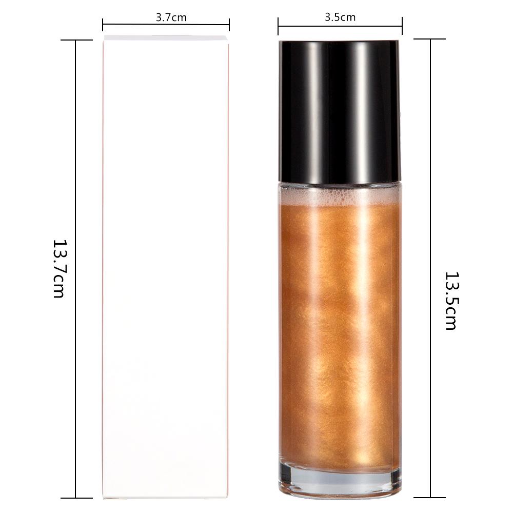 Private label Liquid Highlight Glitter Brighten Shimmer Highlighter body oil Glitter highlight spray