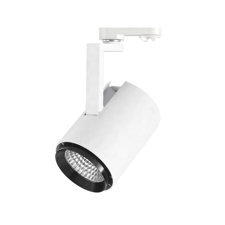 Black white RoHS indoor shop bar 2700K 3000K 4000K 5000K 6000K 30w zoomable museum led track light