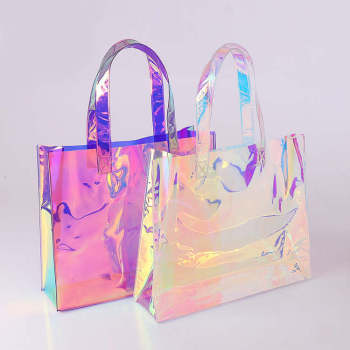 ZORAS Women custom beach plastic tote bag,wholesale clear pvc shopping bag