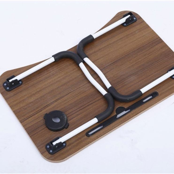 Laptop Table for Bed, Folding Breakfast Tray Portable Mini Picnic Desk Storage Space Laptop Table