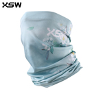 Pattern Scarf Sublimation Printed Flower Pattern Women Ladies Fishing Tube Bandana Cycling Face Cover Scarf