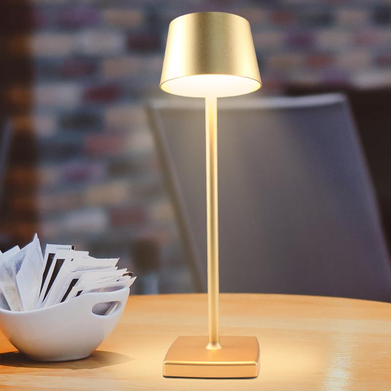 Европейская гостиничная Энергосберегающая светодиодная алюминиевая гостиничная лампа для чтения USB перезаряжаемая Беспроводная настольная лампа для ресторана на ужин