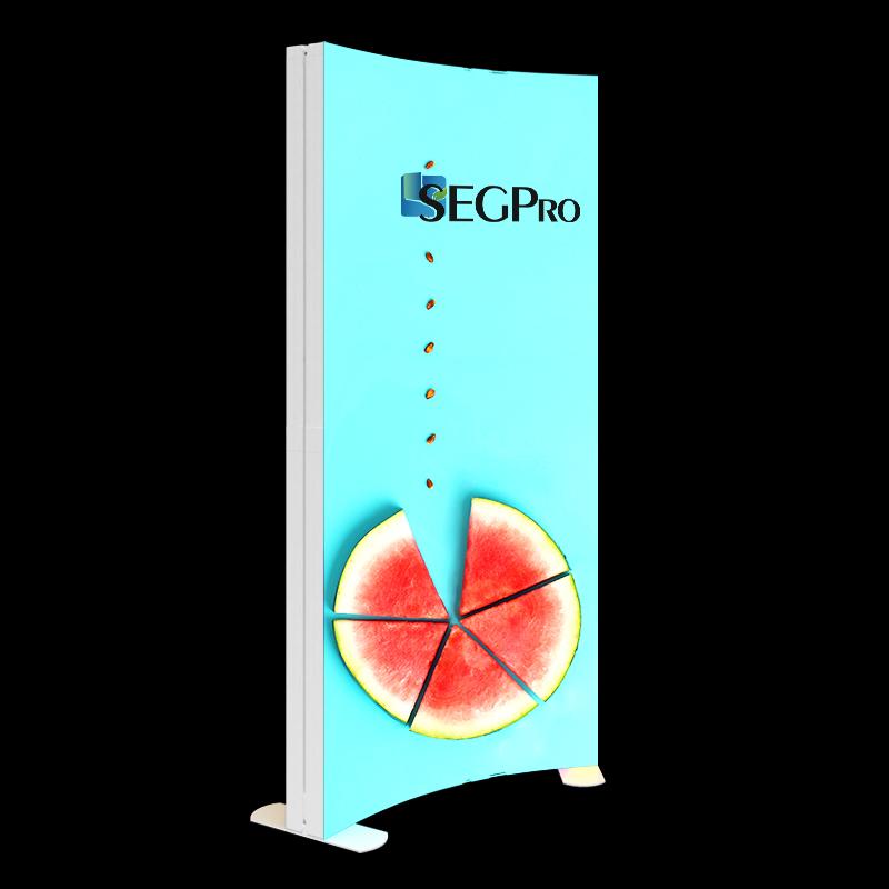 Christmas indoor advertising SEG fabric graphics LED strips thin frameless large pvc profile flood arc light box