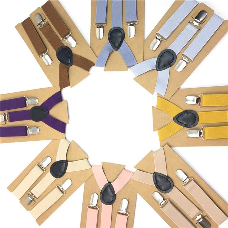 Оптовая продажа, недорогие регулируемые подтяжки унисекс, Y-образная фурнитура с 3 зажимами, Эластичные подтяжки