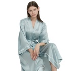 Solid Color Pure Silk sleepwear robes bridal robes Bride Gown for Wedding Party