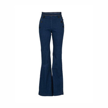 Femmes individualité Jeans Taille Moyenne Maigre Micro Jean Flare