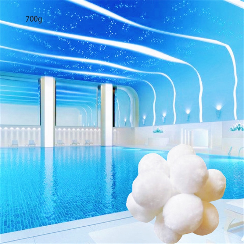 Swimming pool sand filter media fiber ball for water filtration in pools and jacuzzis