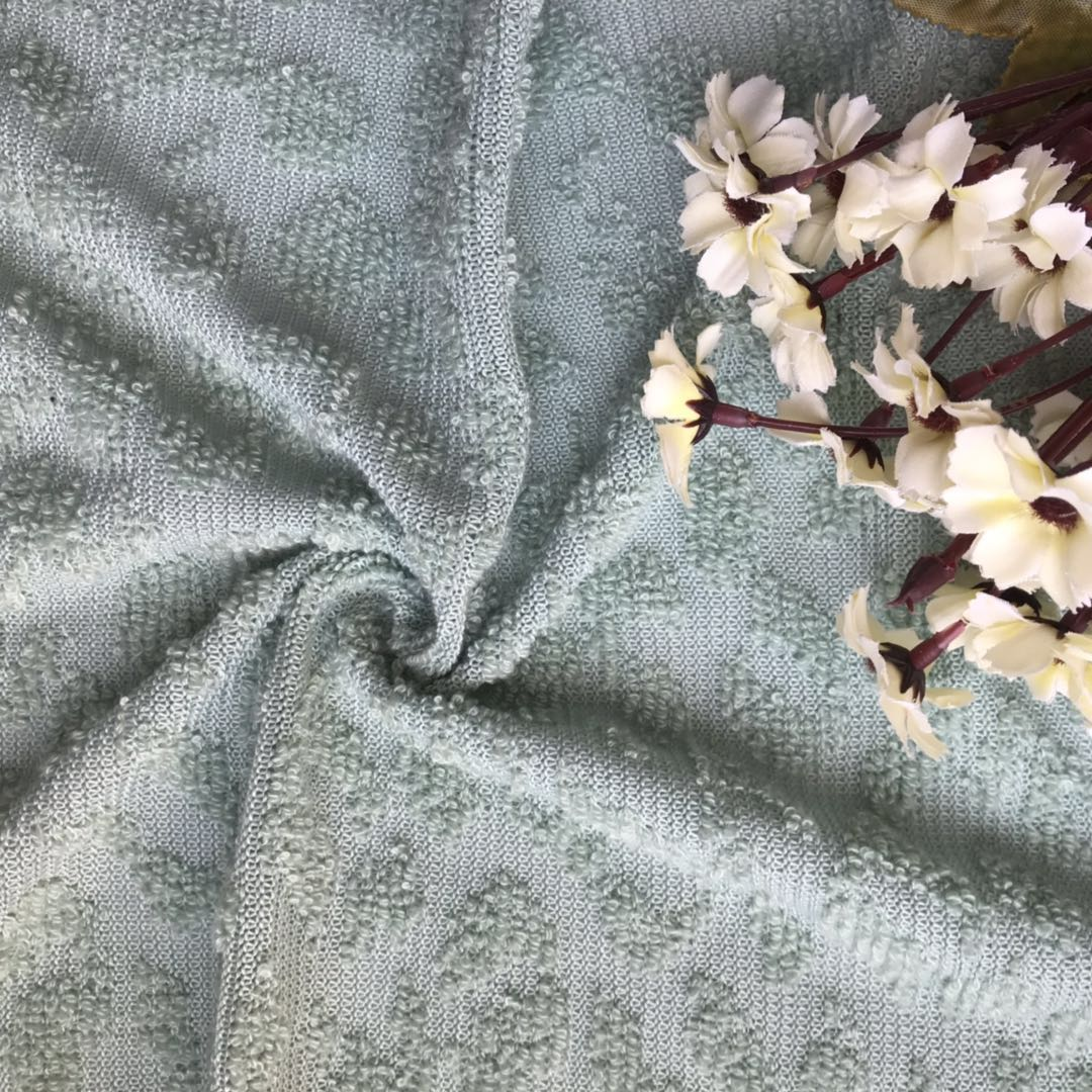 Manufacturer cheap Jacquard Terry Fabric for Garment Upholstery
