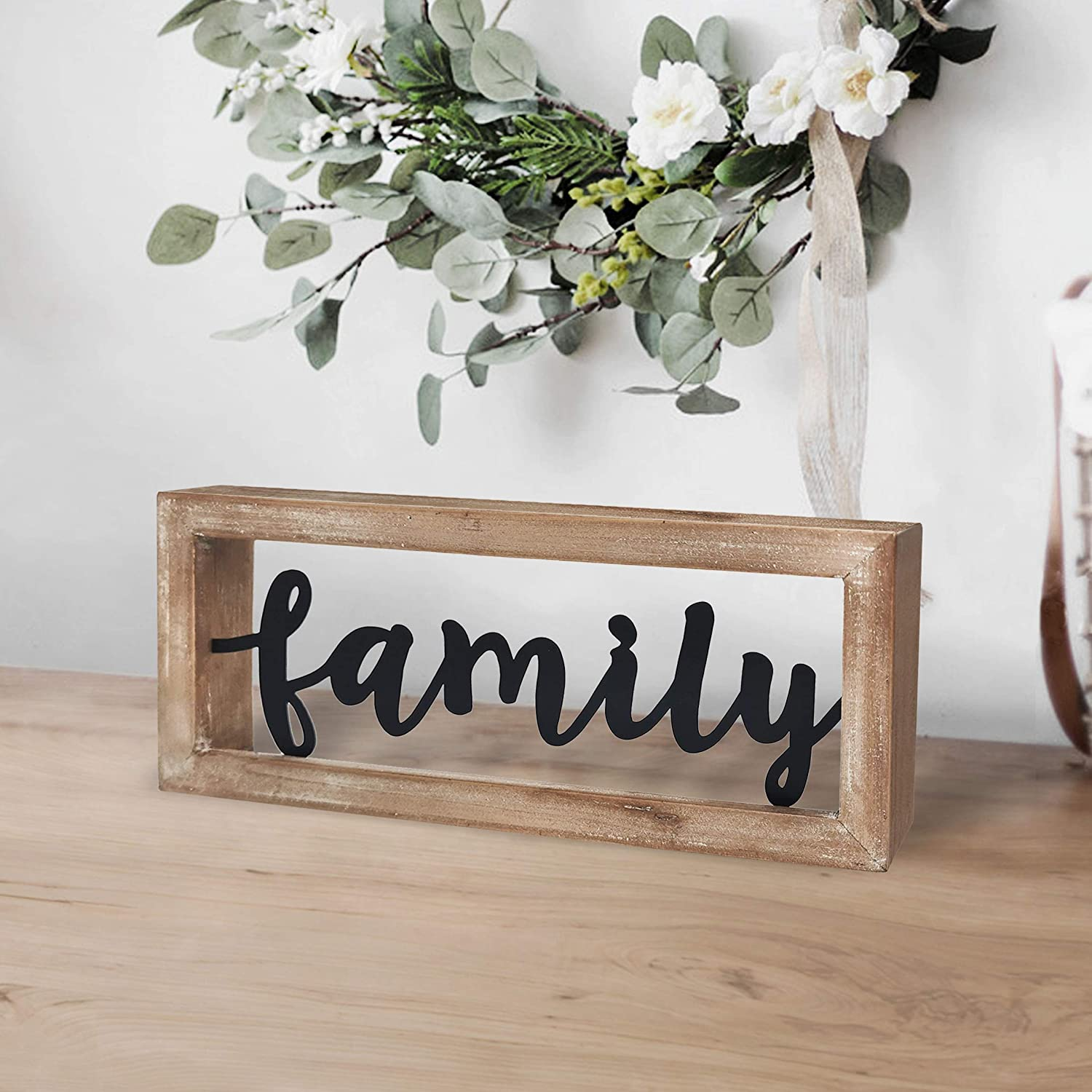 Tabletop Standing Family Sign Iron And Wood Design Home Decor   Buy Decor  Signs,Wall Decor Signs,Rustic Wall Decor Signs Product on Alibaba.com