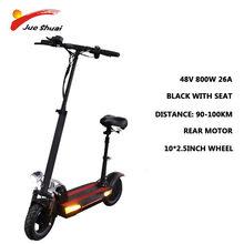 Новый 48 в 800 Вт Мощный электрический скутер Максимальная дистанция 100 км с литиевой батареей Электрический скейтборд elettrico adulti E скутер(Китай)