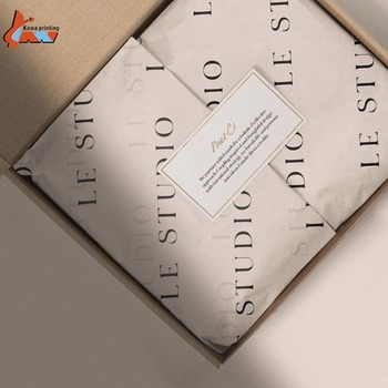 17 Gsm Custom Brand Printed Logo Gift Packing Shoe Wrapping Tissue Paper