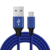 28AWG 1M 1.2M 1.5M Braided Micro USB Cable Sync Data Cable For Mobile Phone USB Chargering Cable