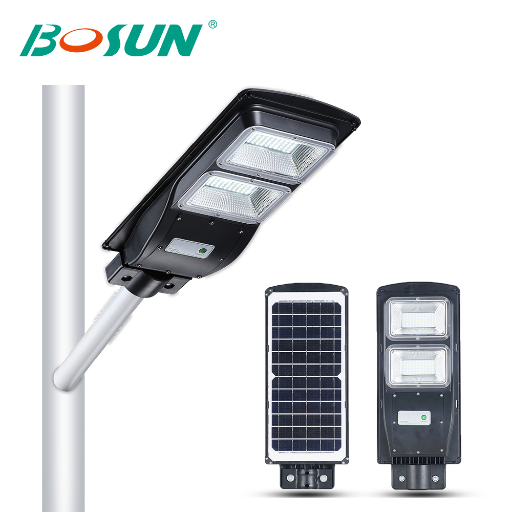 BOSUN Intelligent Luminaire Waterproof Ip65 Outdoor 20w 40w 50w 60w 80w Integrated All In One Solar Led Street Light Price List